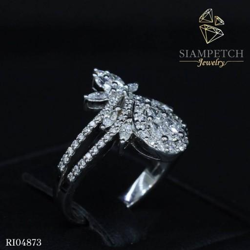 แหวนเพชรดีไซน์มงกุฏ เพชรน้ำ100 RI04873