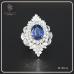 แหวนไพลิน ซีลอน เผาเก่า  RI00414
