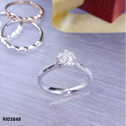 แหวนหมั้นเพชรเม็ดกลาง น้ำ95 RI03848