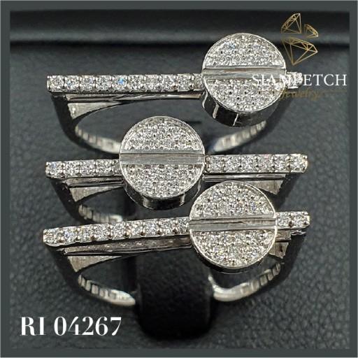แหวนเพชรแท้ 0.60 กะรัต น้ำ 99 RI04267