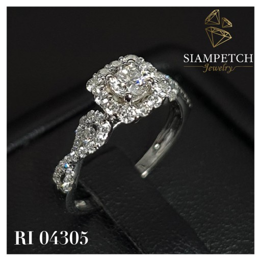 แหวนหมั้นเพชร 0.28 กะรัต น้ำ98 (หลุดจำนำ) RI04305