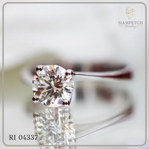 แหวนหมั้นเพชร GIA 1.10 กะรัต RI04337