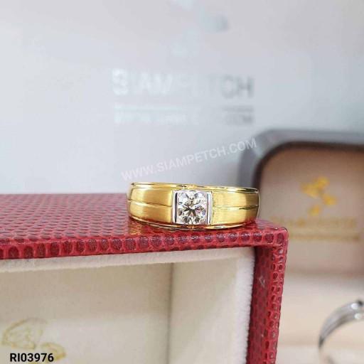 แหวนหมั้นชายเม็ดเดียว 0.40 กะรัต น้ำ95 RI03976