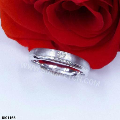 แหวนเพชร 0.02 กะรัต น้ำ99 RI01166