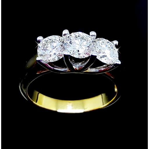 แหวนเพชร 3เม็ด น้ำ95