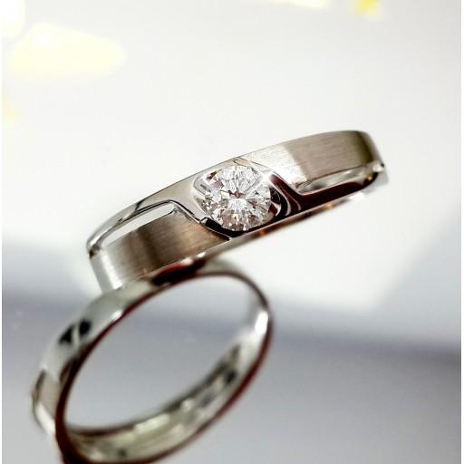 แหวนเพชรเม็ดกลาง 022กะรัต น้ำ98