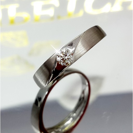 แหวนเพชรเม็ดกลาง 0.20กะรัต น้ำ98
