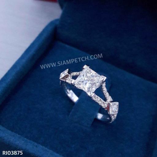 แหวนหมั้นเพชรปริ้นเซสคัต น้ำ95 RI03875