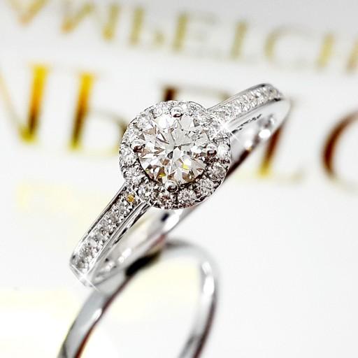 แหวนเพชรเม็ดกลาง ใบเซอร์GIA  0.32กะรัต น้ำ94