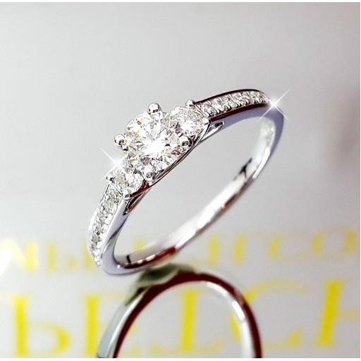 แหวนเพชรเม็ดกลาง GIA  0.40กะรัต น้ำ97