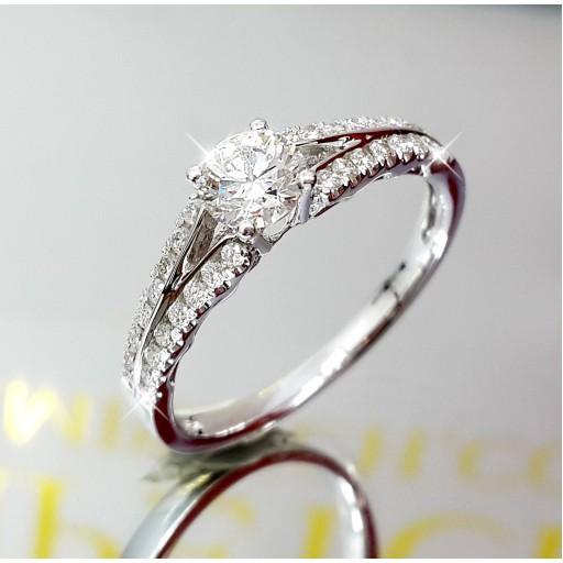 แหวนเพชรเม็ดกลาง GIA  0.43กะรัต น้ำ98