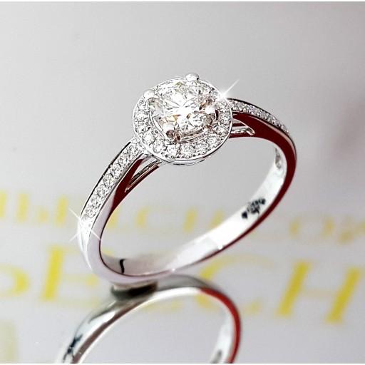 แหวนเพชรเม็ดกลาง ใบเซอร์GIA  0.38กะรัต น้ำ98