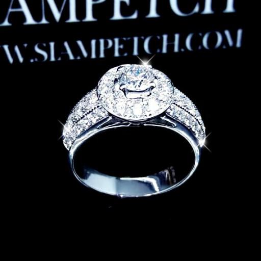 แหวนเพชรเม็ดกลาง 0.40กะรัต น้ำ100 GIA